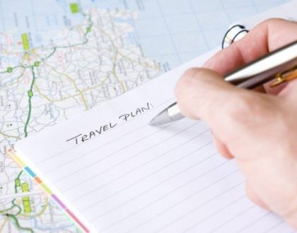 Het plannen van een verre reis