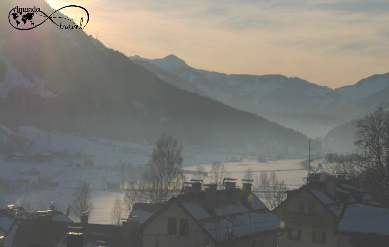 Kirchberg in de sneeuw