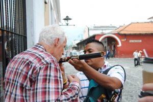 Muzikant in Antiqua Guatemala