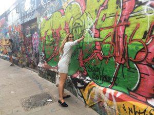 Graffiti straatje Gent België