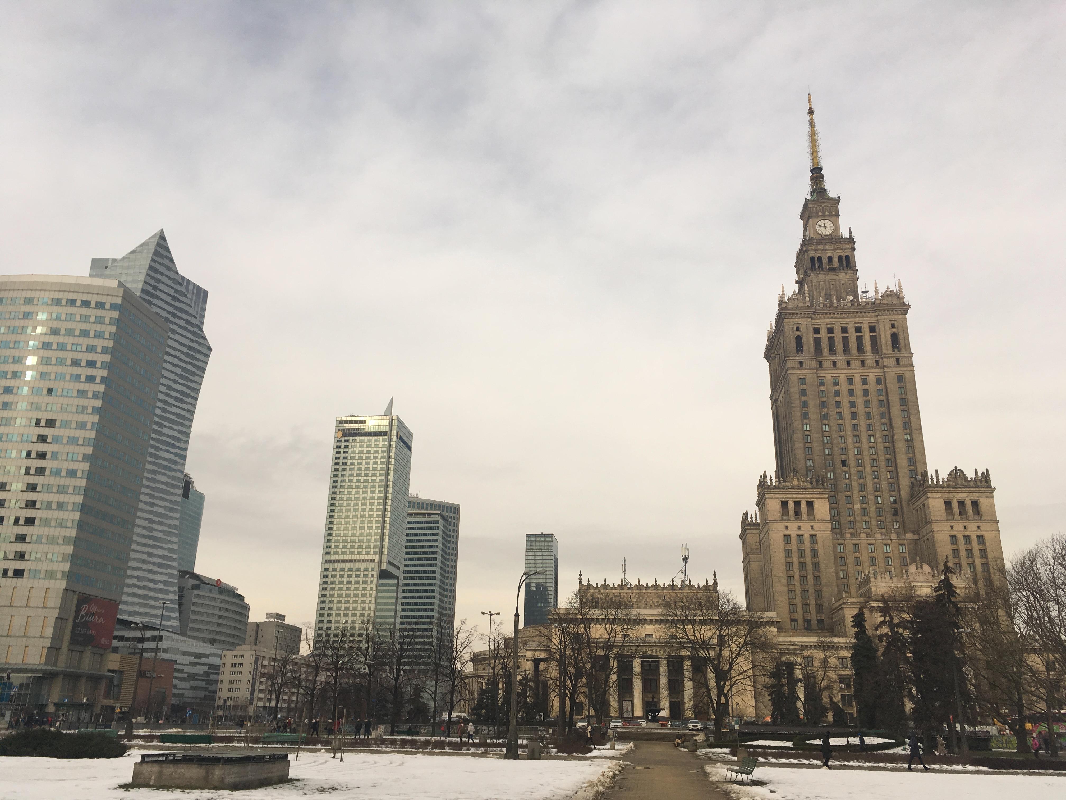 Warschau, sprookje in de winter