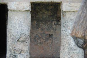 Oude zuilen Maya tempel Tulum Mexico