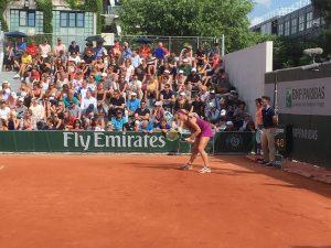 Roland Garros Kiki Bertens in actie tennis