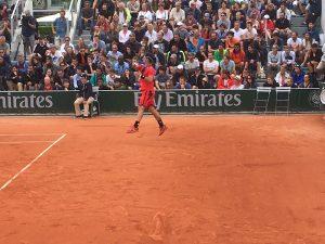 Roland Garros tennis Fognini in actie
