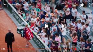 Roland Garros Kiki bertens tribune!