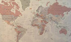 Wereldkaart, een nieuwe trend in huis