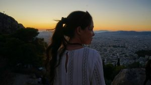 Zonsondergang Athene